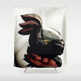 Rose knight's helm Shower Curtain