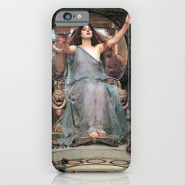 Circe offering the Cup to Odysseus - John William Waterhouse iPhone Case