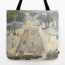 Swimmers In the Spring Breeze Tote Bag