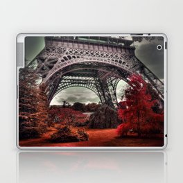 Surreal Eiffel Tower, Paris, France, red trees Laptop & iPad Skin
