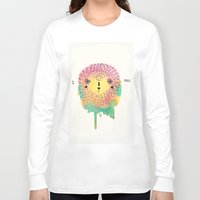 sloth Long Sleeve T-shirts featuring sloth by Alba Blázquez