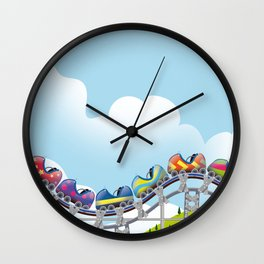 Rollercoaster ride Wall Clock