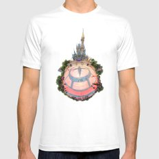 Cinderella Castle in the #DisneyGalaxy MEDIUM White Mens Fitted Tee