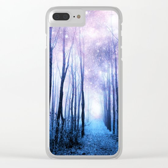 Fantasy Forest Path Clear iPhone Case