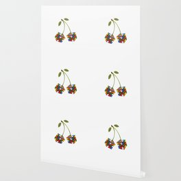 Cherry rubik Wallpaper