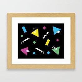 Memphis pattern 62 - 80s / 90s Retro Framed Art Print