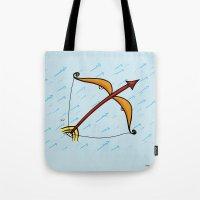 sagittarius Tote Bags featuring Sagittarius by Giuseppe Lentini