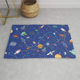 Space Rocket Pattern Rug