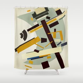 Abstract Composition 424 Shower Curtain