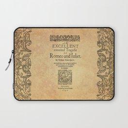Shakespeare, Romeo and Juliet 1597 Laptop Sleeve