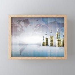 Digital Banking Platform Services and Fintech Concept Framed Mini Art Print