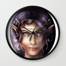 Elven Face Wall Clock