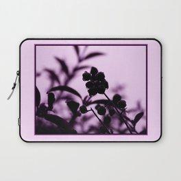 raindrops and hedge berries (purple) Laptop Sleeve