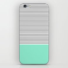 Minimal Mint Stripes iPhone Skin