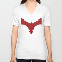 nightwing V-neck T-shirts featuring Nightwing 52 by Sdog1982