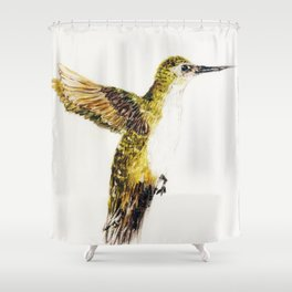 Hover Bird Shower Curtain