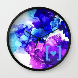 Indigo & Purple with Inclusion & Care Wall Clock