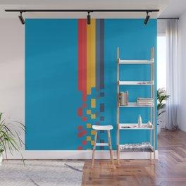 Classic 80s Video Game Style Retro Stripes Pixel Drops - Akiko Wall Mural