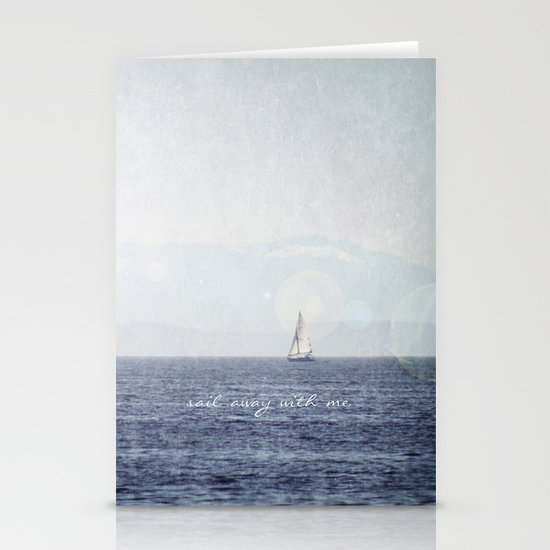 Sail Away With Me Stationery Cards