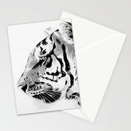 The Tiger Watercolor (Black and White) Stationery Cards