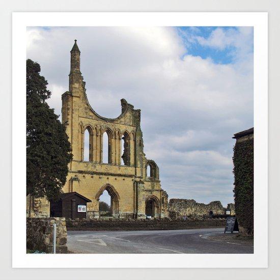 Byland Abbey 3 Art Print