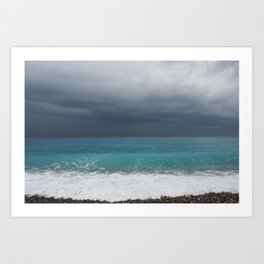 Topaz sea Art Print