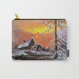 Winter house in the forest Carry-All Pouch