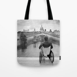 Invisible, Millennium Bridge, London Tote Bag