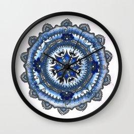 Blue Cogwheel Wall Clock