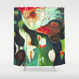 """Inner Whisper #2"" Original Painting by Flora Bowley Shower Curtain"