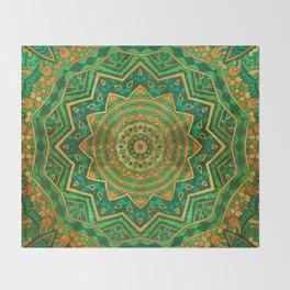 Jade Mandala Throw Blanket