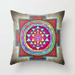 Sri Yantra VII.VI Throw Pillow