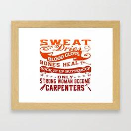 Carpenter Woman Framed Art Print