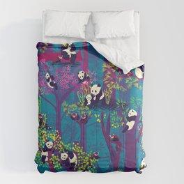 Both Species of Panda - Blue Comforters