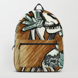 Geode skeleton covered in crystals Backpack