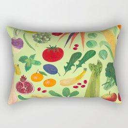 Fruits and Veggies Rectangular Pillow