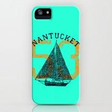 Nantucket Beaches Sailboat iPhone (5, 5s) Slim Case
