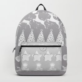 Christmas ornaments collage Backpack