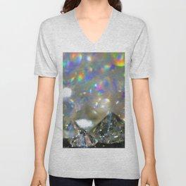 Rainbow Diamonds Unisex V-Neck