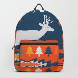 Deer winter pattern Backpack