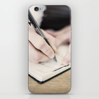 write iPhone & iPod Skins featuring WRITE by Marte Stromme