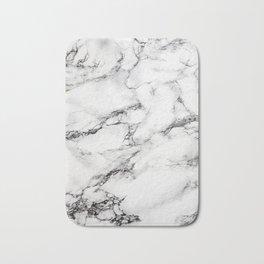 Greyish White Marble Bath Mat