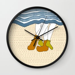 Couple in bed cuddling Wall Clock