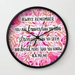 Always Remember – Pink Ombré Palette Wall Clock