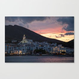 Evening in Cadaqués Canvas Print