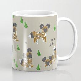 Geometric African Painted Dog Coffee Mug