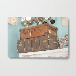 Old suitcases Metal Print