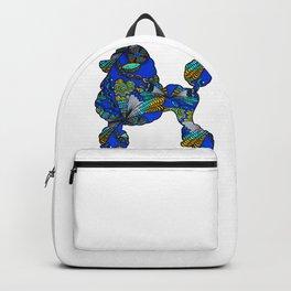 Floral Poodle Backpack