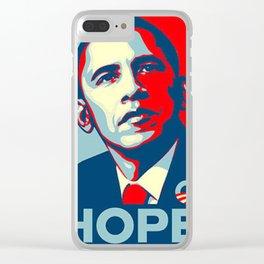 BARACK OBAMA HOPE Clear iPhone Case