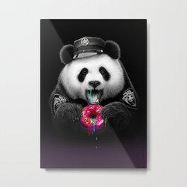 DONUT COP PANDA Metal Print